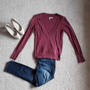 BP v neck maroon sweater size m